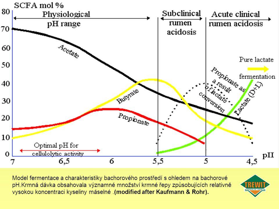 Model fermentace a charakteristiky bachorového prostředí s ohledem na bachorové