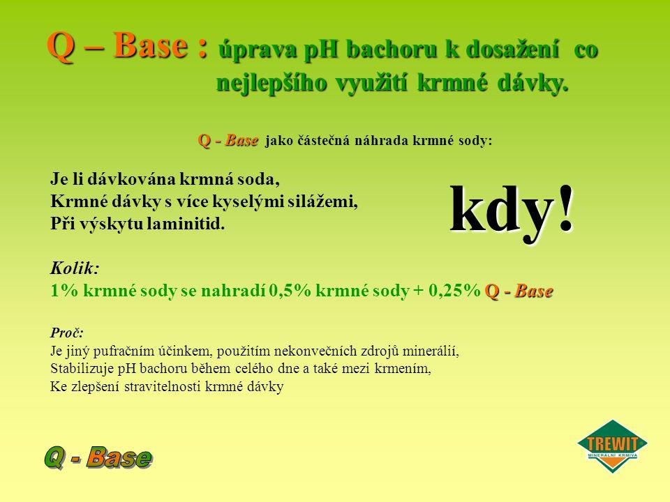 Q - Base jako částečná náhrada krmné sody: