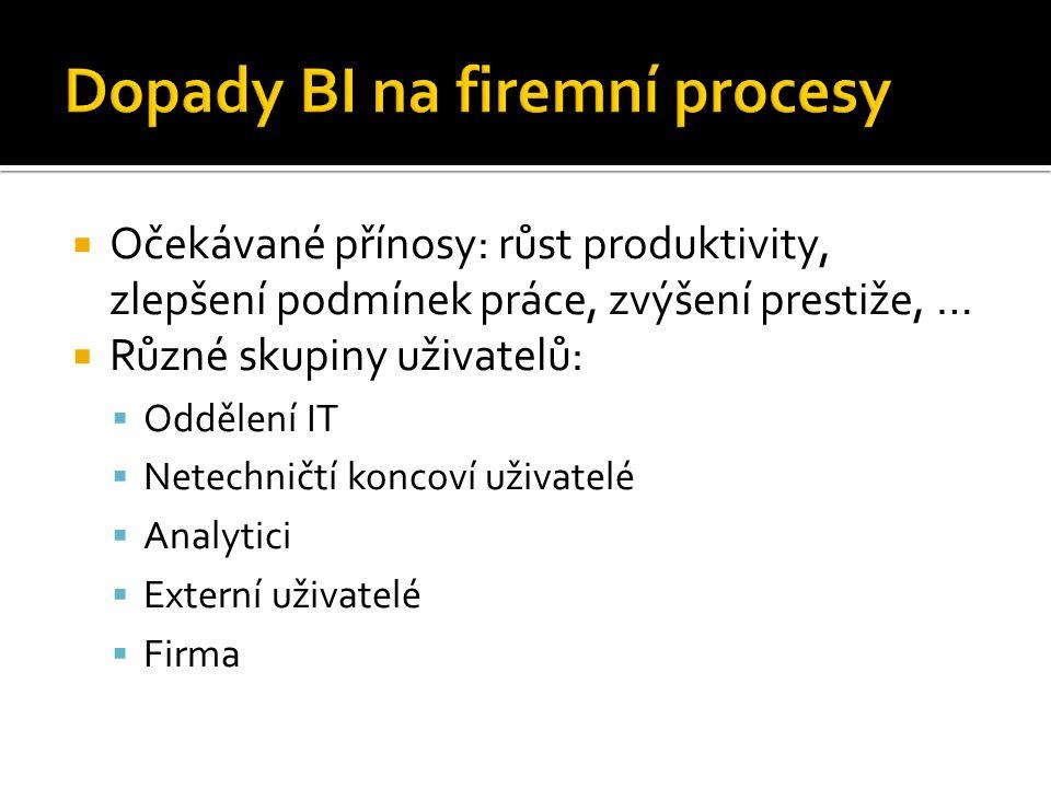Dopady BI na firemní procesy