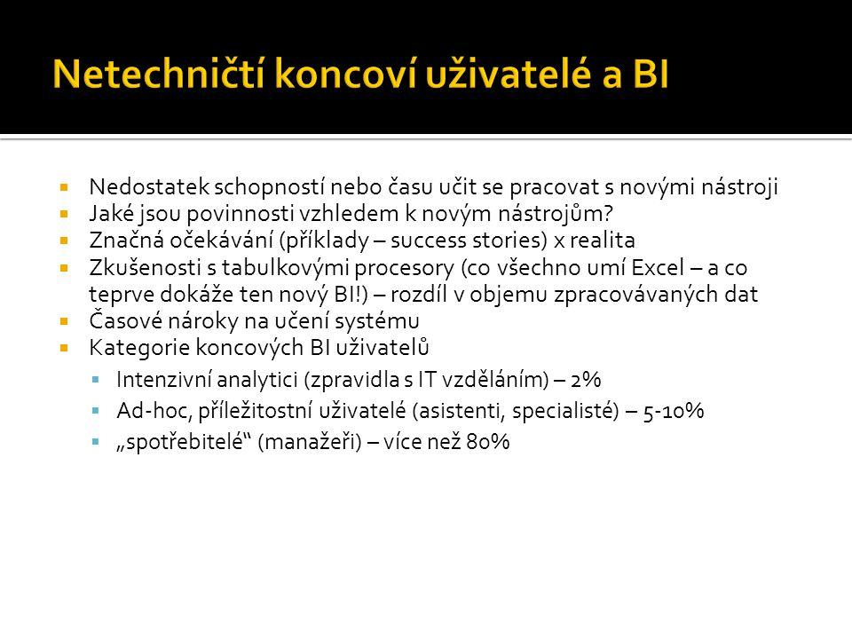 Netechničtí koncoví uživatelé a BI