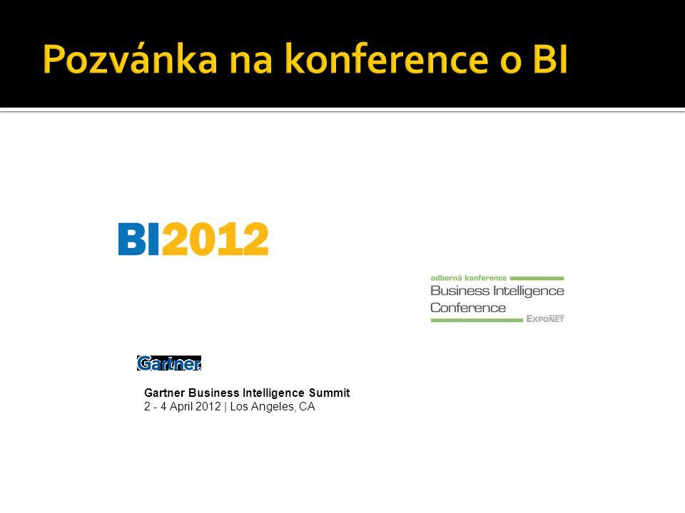 Pozvánka na konference o BI