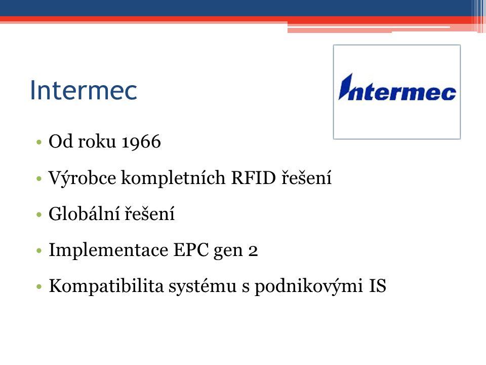 Intermec Od roku 1966 Výrobce kompletních RFID řešení Globální řešení