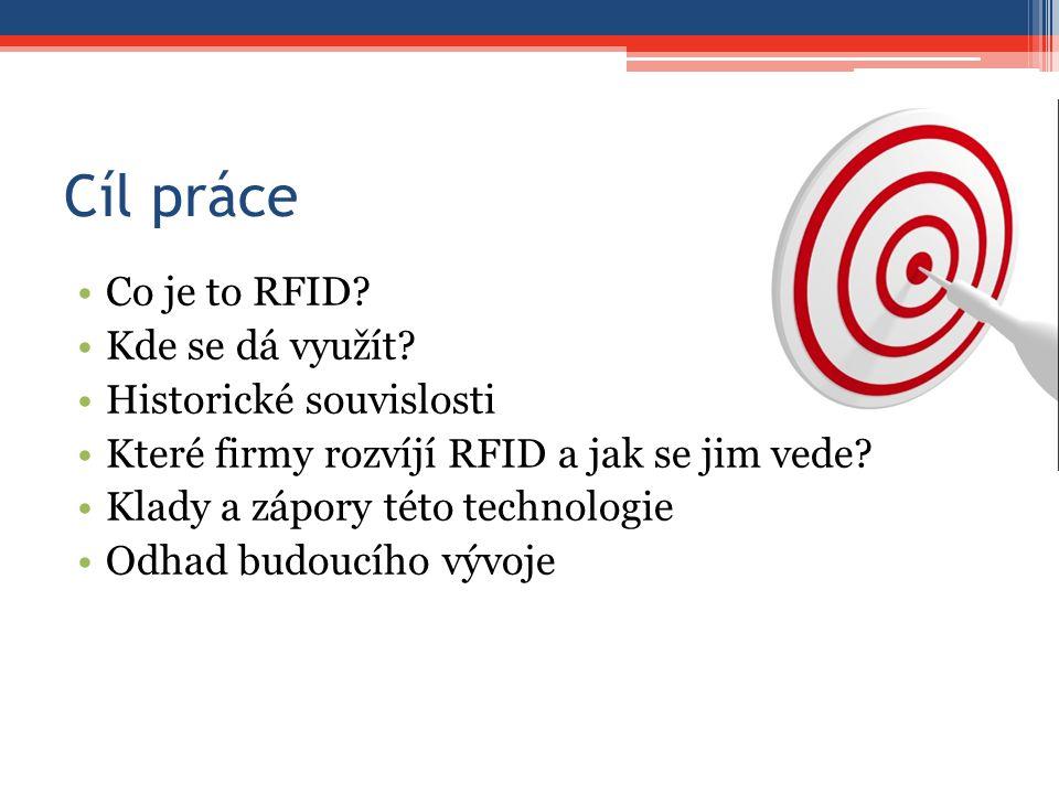 Cíl práce Co je to RFID Kde se dá využít Historické souvislosti