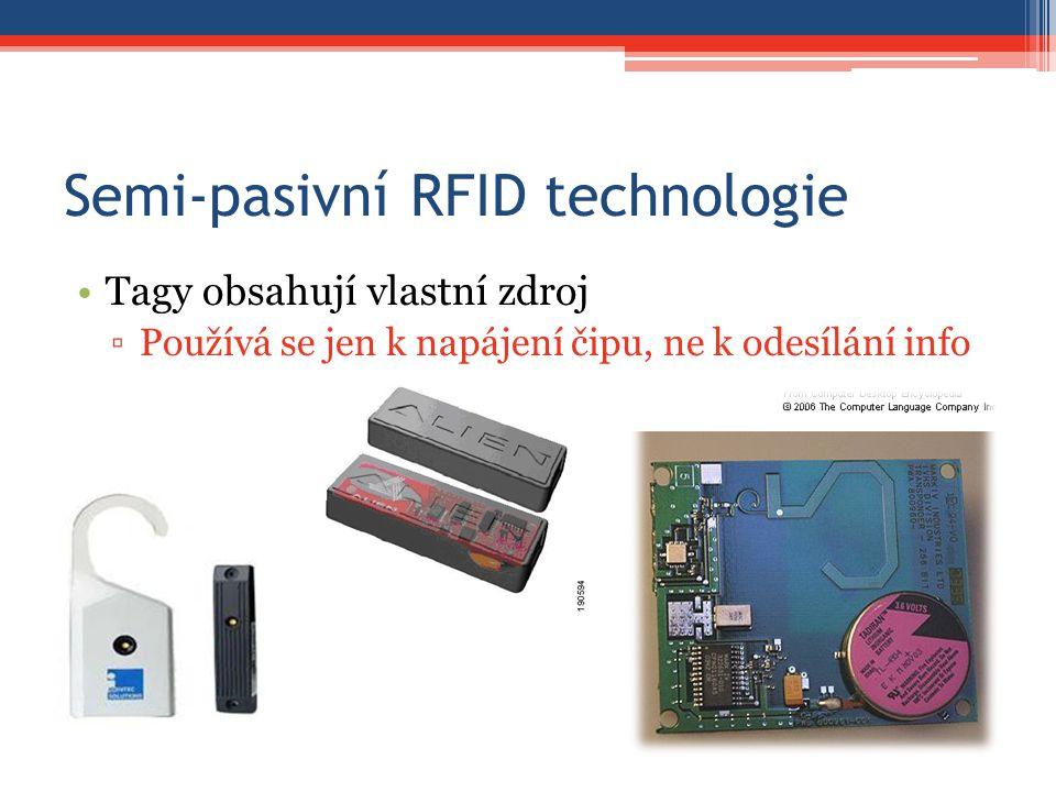 Semi-pasivní RFID technologie