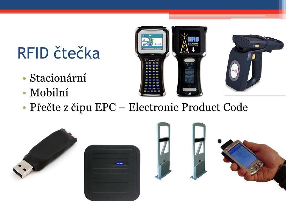 RFID čtečka Stacionární Mobilní