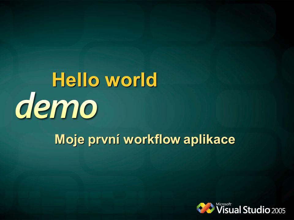 Hello world Moje první workflow aplikace