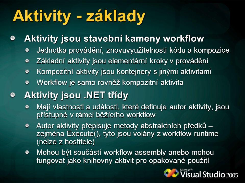 Aktivity - základy Aktivity jsou stavební kameny workflow
