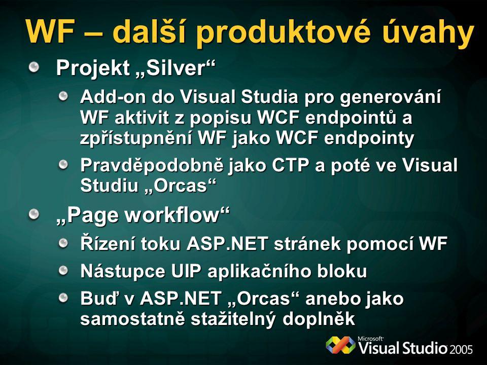 WF – další produktové úvahy