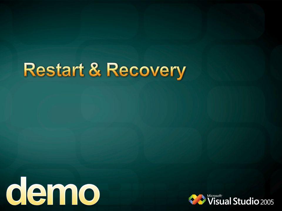 demo Restart & Recovery 4/6/2017 12:04 AM Restart