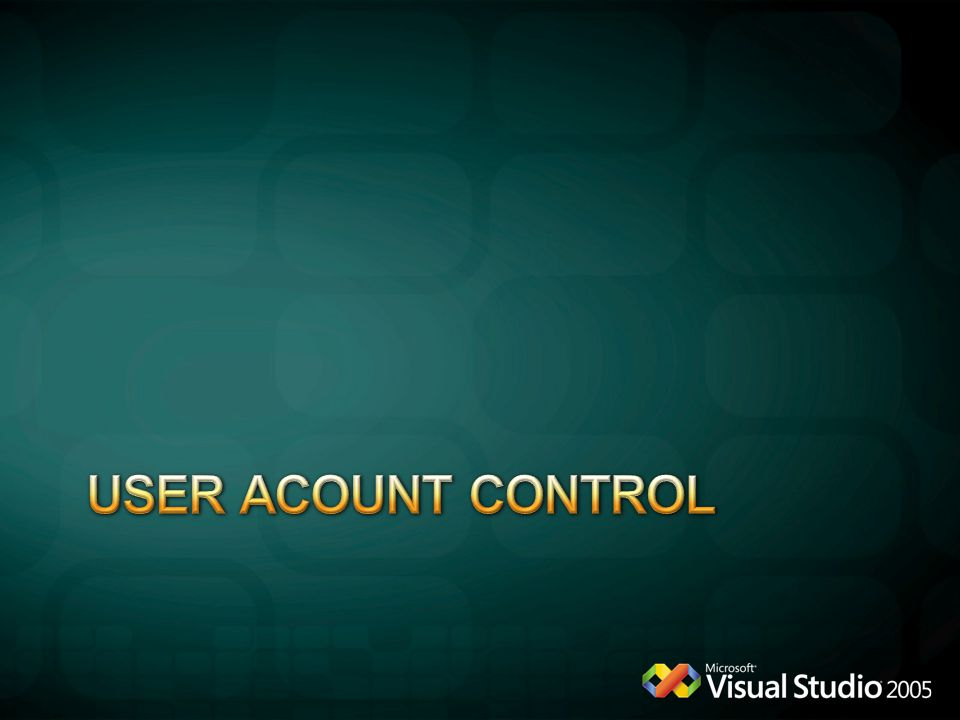 USER acount control