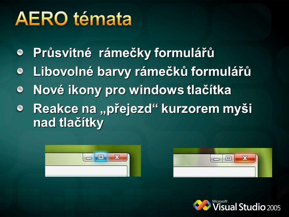 AERO témata Průsvitné rámečky formulářů