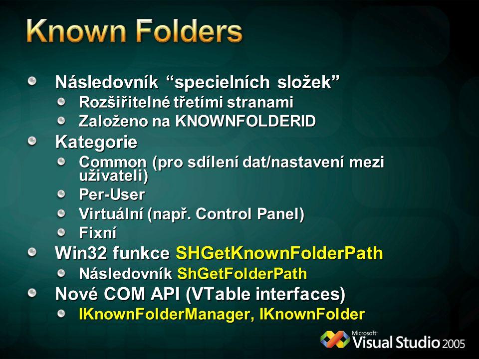 Known Folders Následovník specielních složek Kategorie