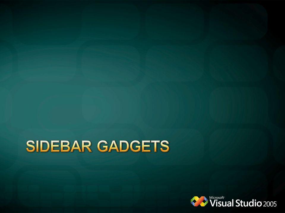 Sidebar gadgets