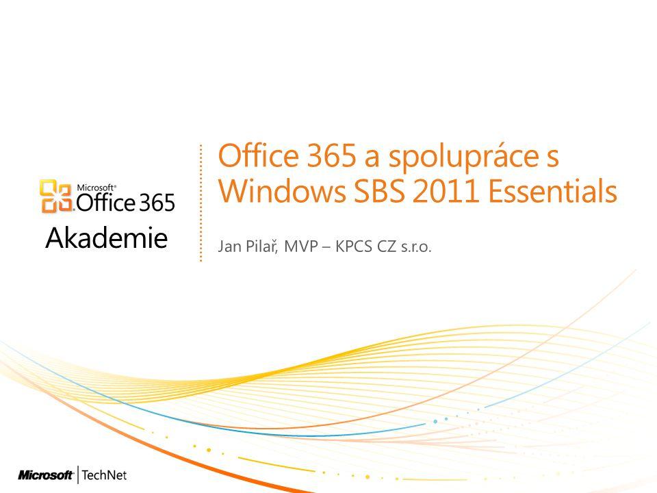 Office 365 a spolupráce s Windows SBS 2011 Essentials