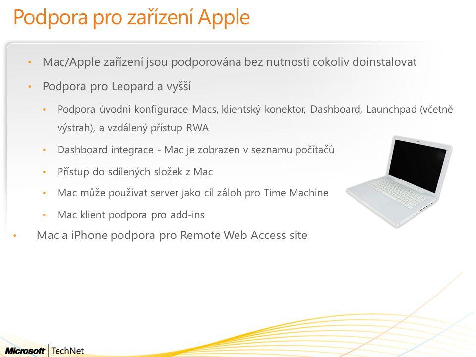 Podpora pro zařízení Apple