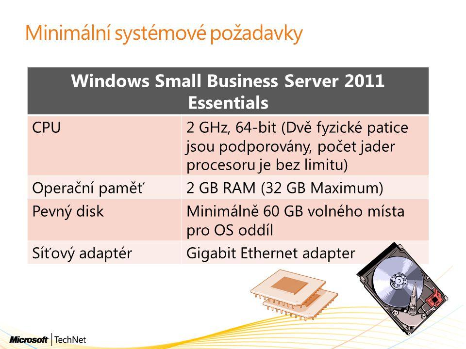 Minimální systémové požadavky