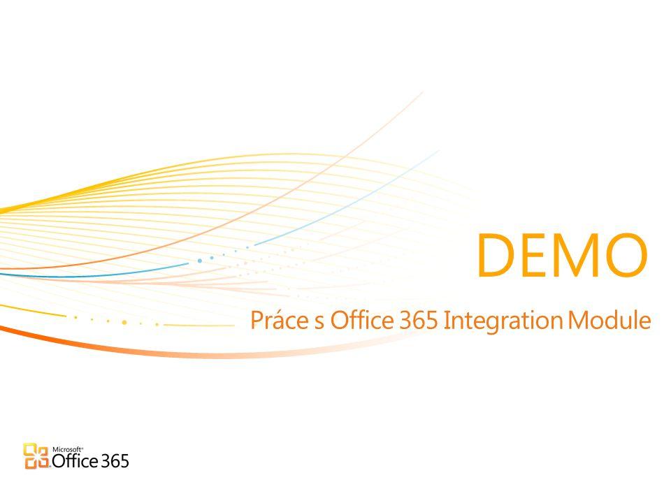 Práce s Office 365 Integration Module
