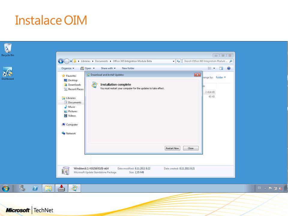 Instalace OIM