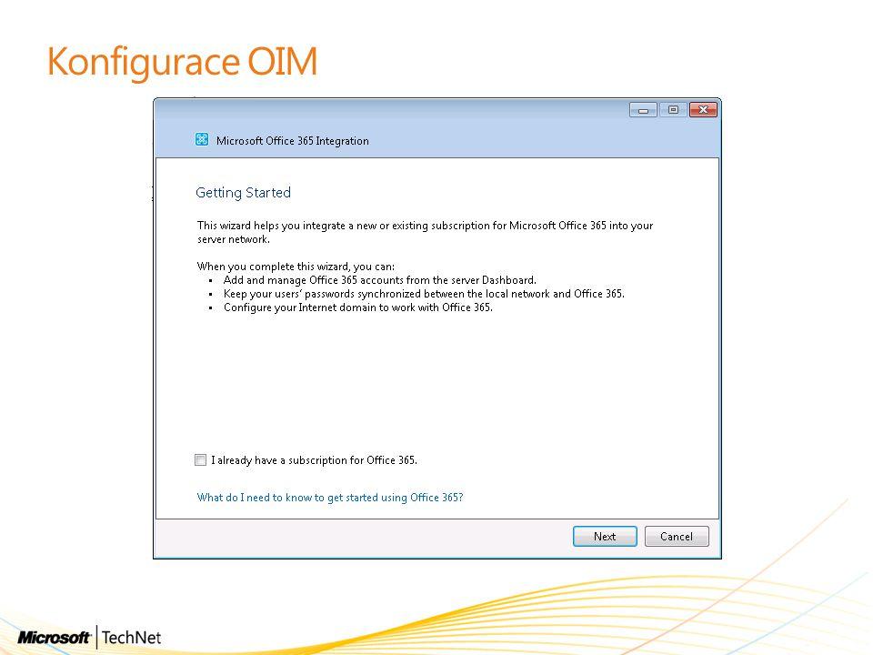Konfigurace OIM