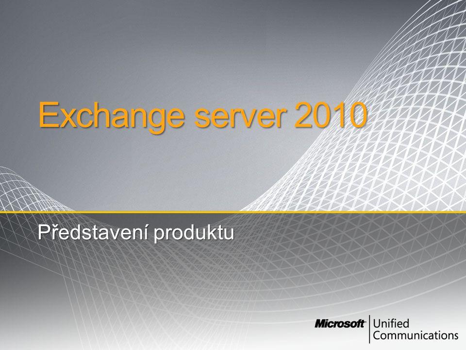 Exchange server 2010 Představení produktu