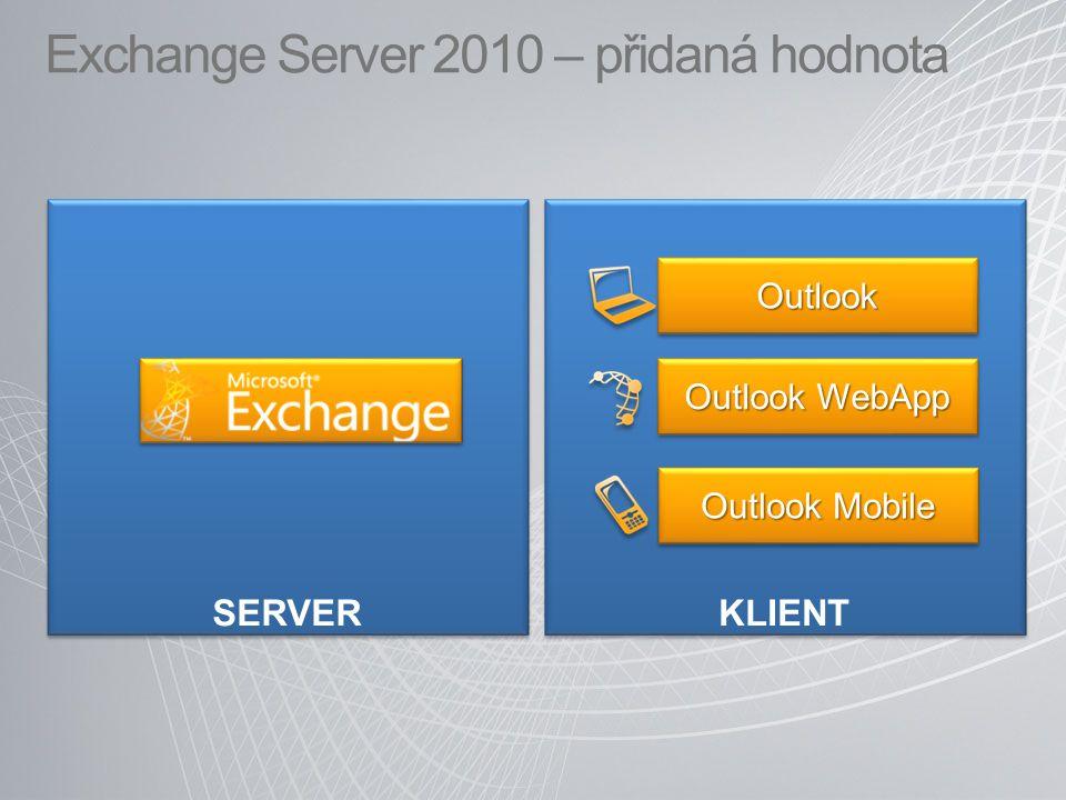 Exchange Server 2010 – přidaná hodnota