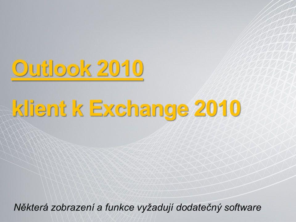 Outlook 2010 klient k Exchange 2010