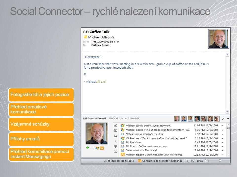 Social Connector – rychlé nalezení komunikace