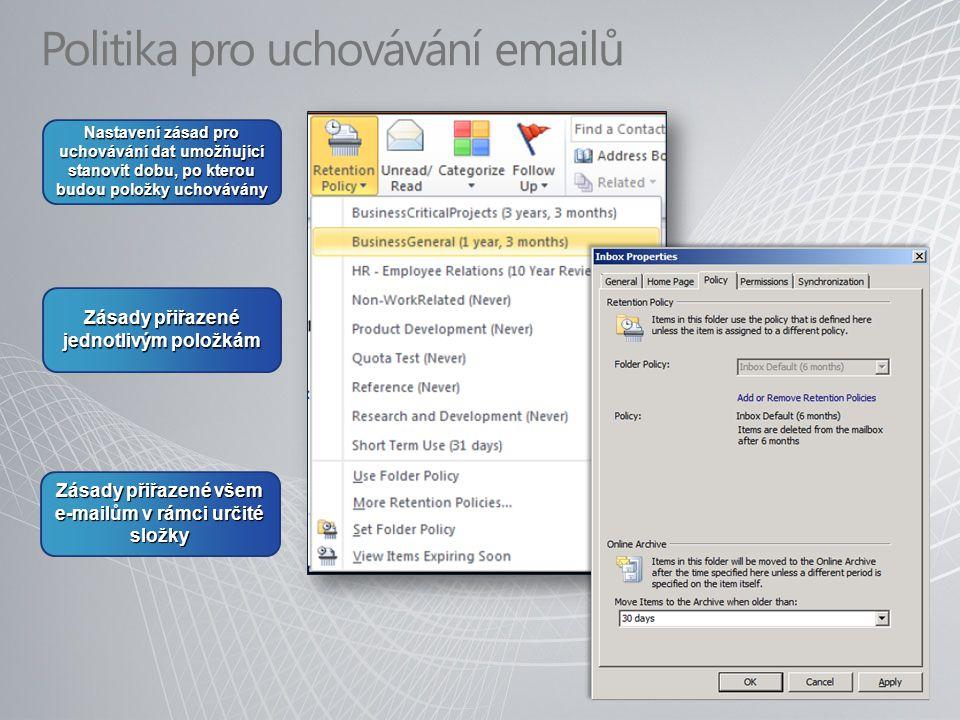 Politika pro uchovávání emailů