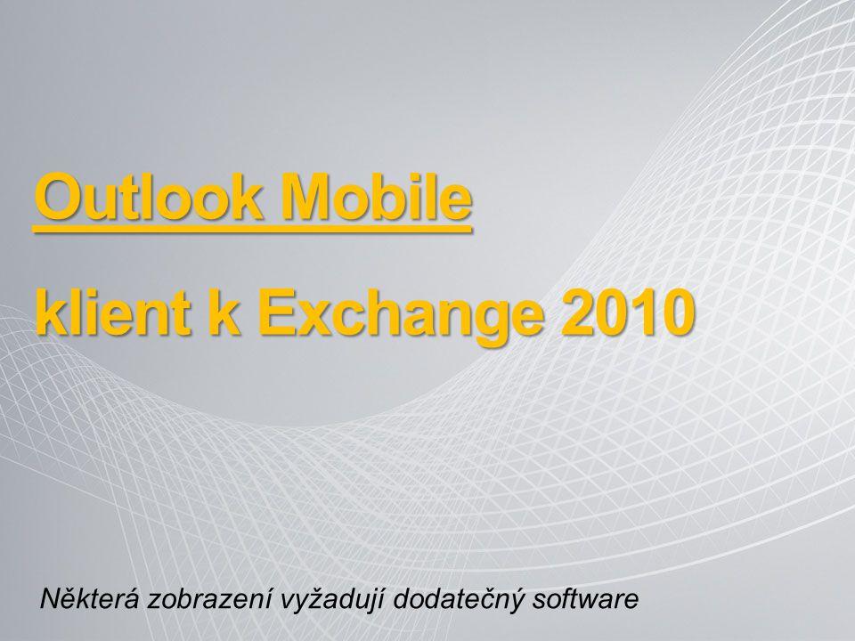 Outlook Mobile klient k Exchange 2010