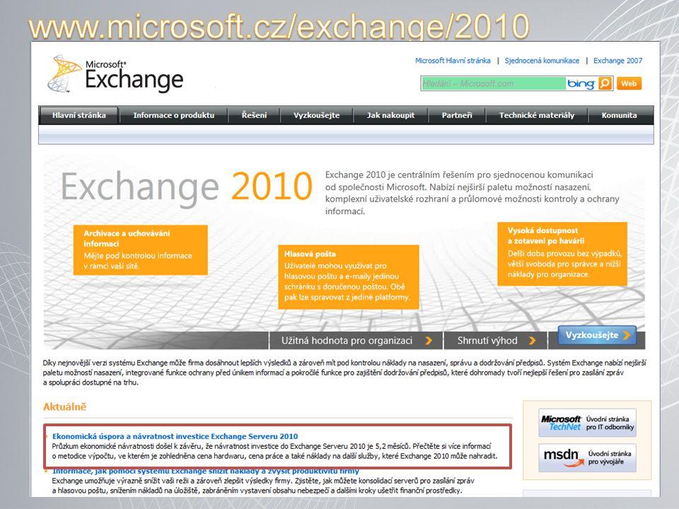 www.microsoft.cz/exchange/2010