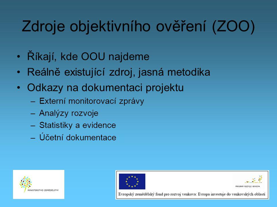 Zdroje objektivního ověření (ZOO)