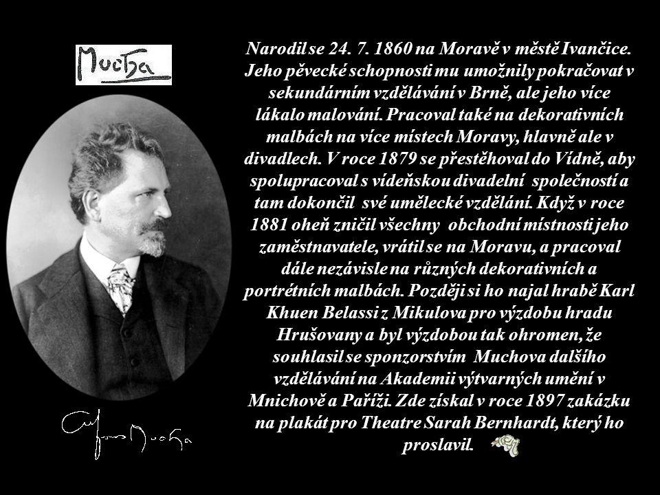 Narodil se 24. 7. 1860 na Moravě v městě Ivančice