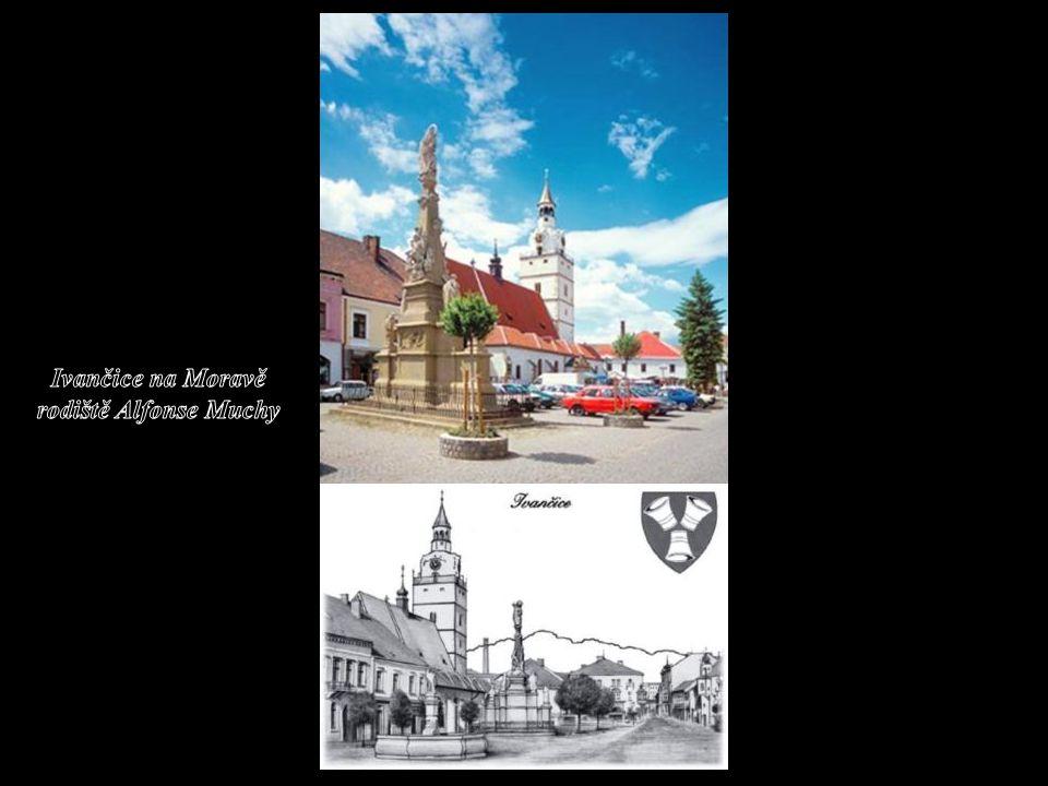 Ivančice na Moravě rodiště Alfonse Muchy