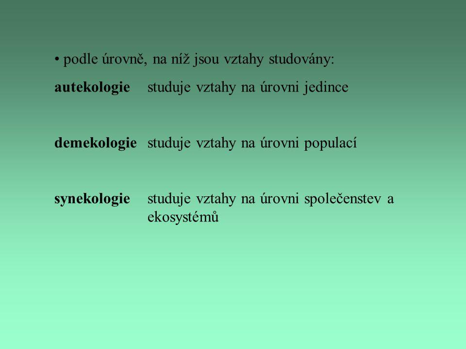 podle úrovně, na níž jsou vztahy studovány: