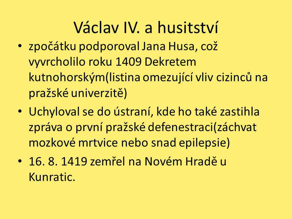 Václav IV. a husitství
