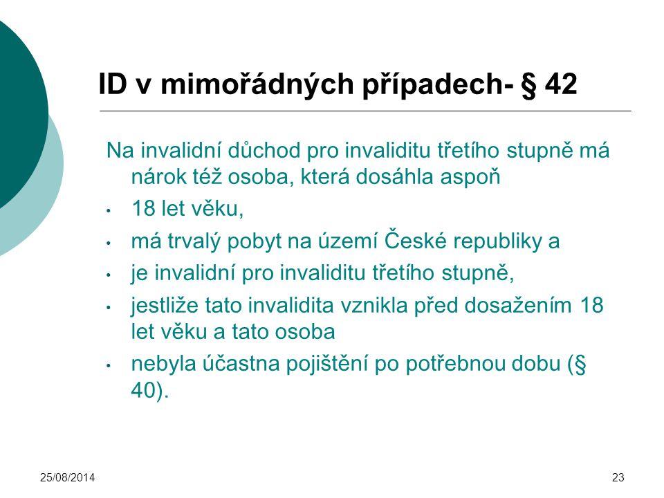 ID v mimořádných případech- § 42