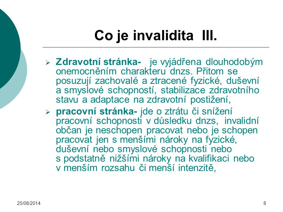Co je invalidita III.