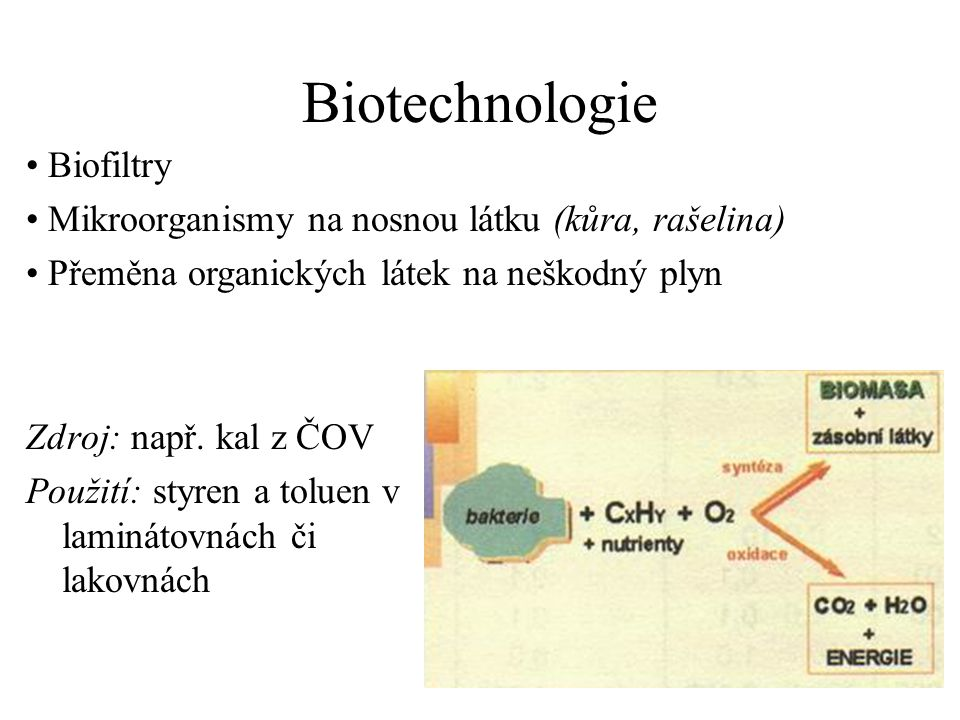 Biotechnologie Biofiltry