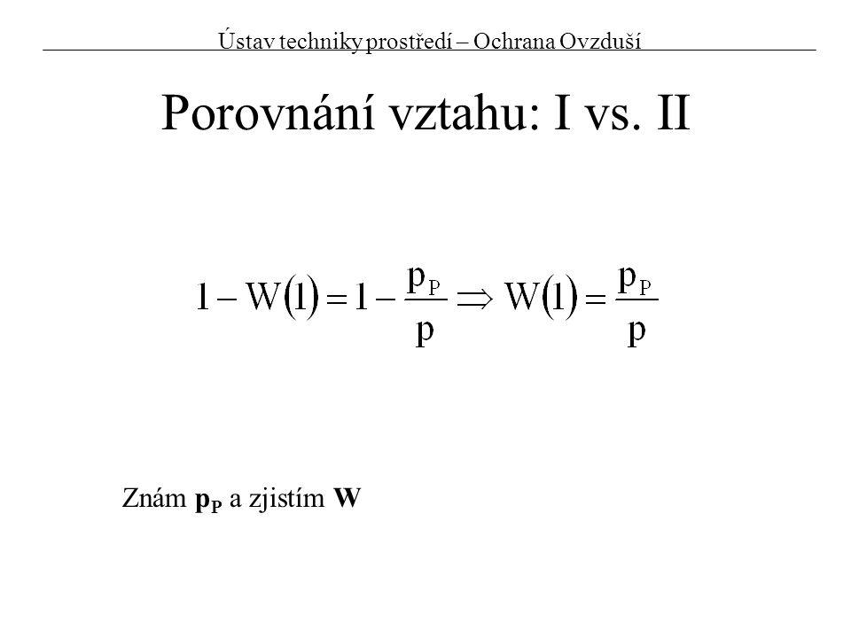Porovnání vztahu: I vs. II