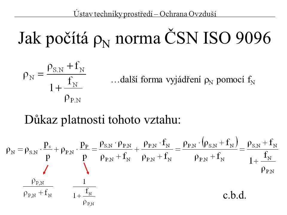 Jak počítá rN norma ČSN ISO 9096