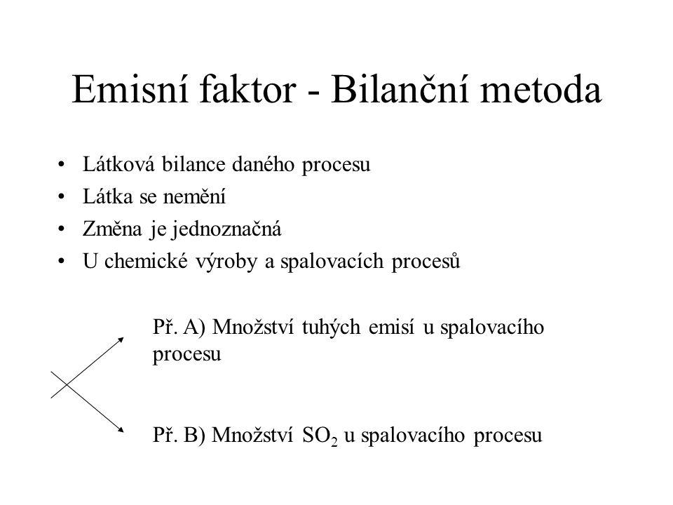 Emisní faktor - Bilanční metoda