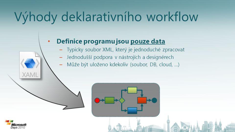 Výhody deklarativního workflow