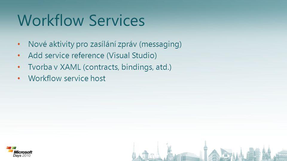 Workflow Services Nové aktivity pro zasílání zpráv (messaging)