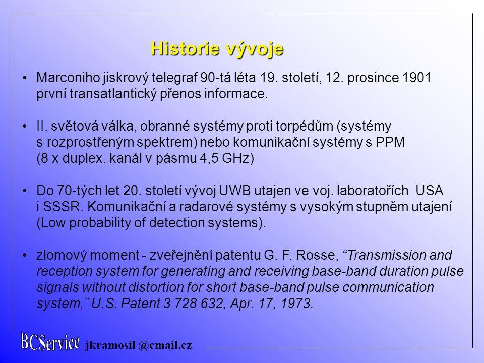BCService jkramosil @cmail.cz. Historie vývoje.