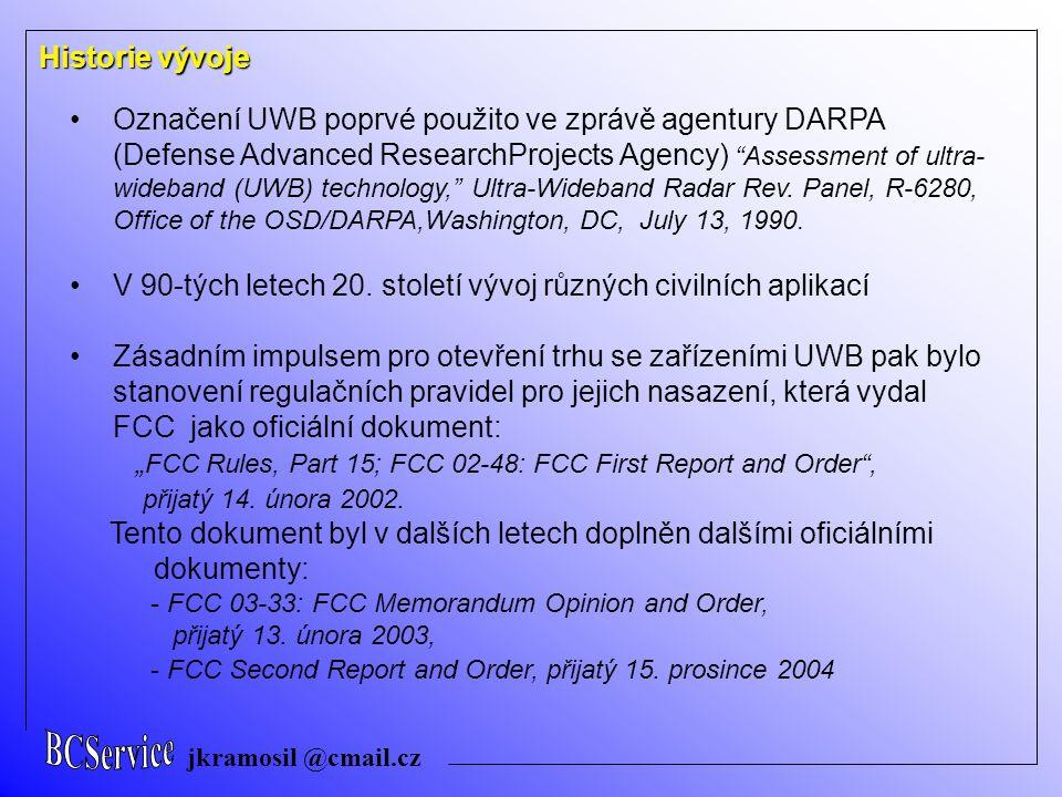 V 90-tých letech 20. století vývoj různých civilních aplikací