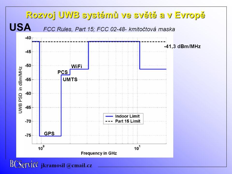 UWB USA Rozvoj UWB systémů ve světě a v Evropě BCService