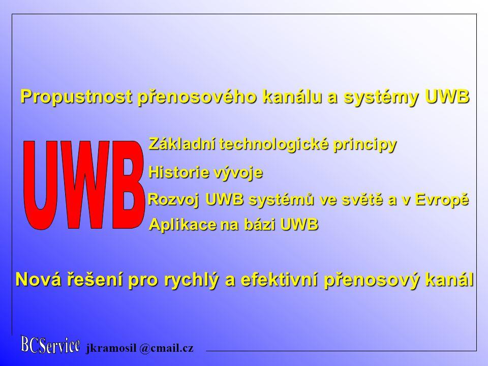 UWB Propustnost přenosového kanálu a systémy UWB