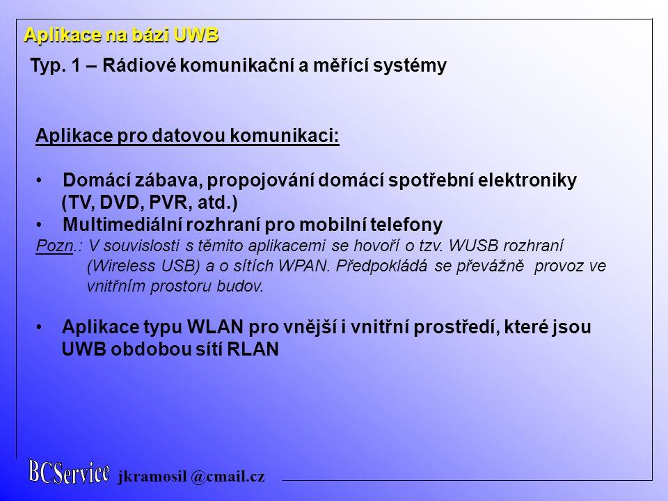 Typ. 1 – Rádiové komunikační a měřící systémy