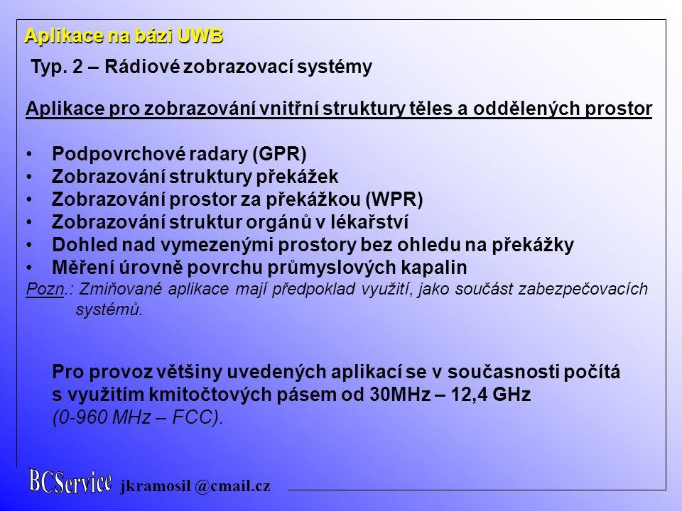 Typ. 2 – Rádiové zobrazovací systémy