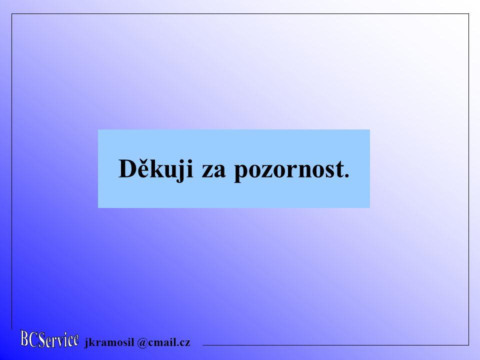 BCService jkramosil @cmail.cz Děkuji za pozornost.